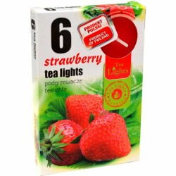 STRAWBERRY scented tealights 6 pcs