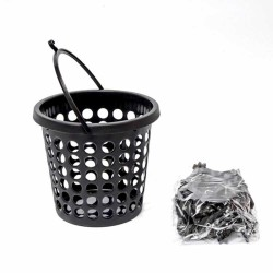 Plastic clothes pegs 24 pcs with a basket