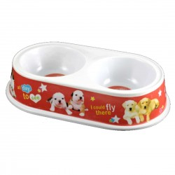 Plastic bowl duo for dogs 100 ml