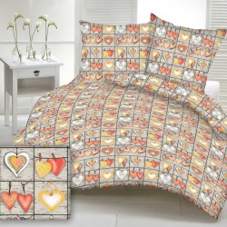 ANETA cotton bedding - orange