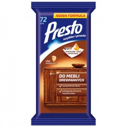 PRESTO CLEAN wet wipes for wooden furniture 72 pcs